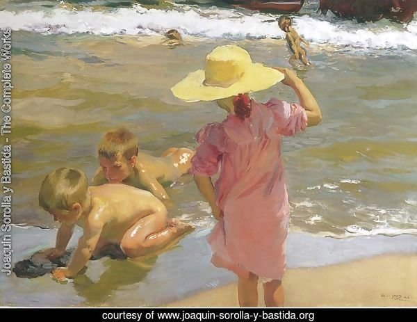 Ninos a la orilla del mar (Children on the Sea-shore)