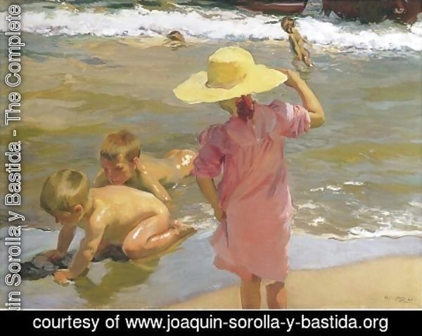 Joaquin Sorolla y Bastida - Ninos a la orilla del mar (Children on the Sea-shore)