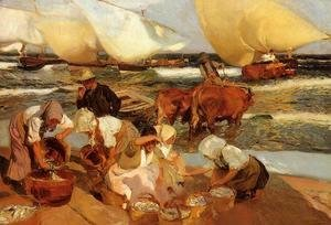 Joaquin Sorolla y Bastida - Beach at Valencia (or Afternoon Sun)