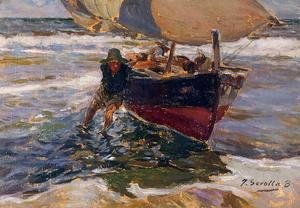 Joaquin Sorolla y Bastida - Beaching the Boat (study)