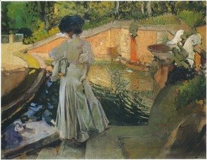 Joaquin Sorolla y Bastida - Maria, Watching the Fish, Granja