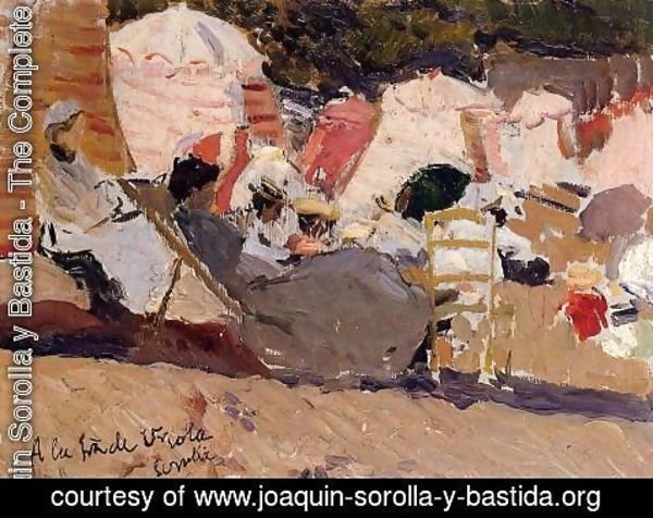 Joaquin Sorolla y Bastida - The Beach at Biarritz