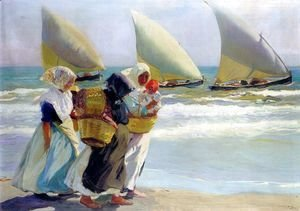 Joaquin Sorolla y Bastida - Three Sails