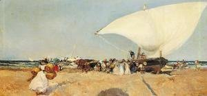 Joaquin Sorolla y Bastida - Arrival of the Boats