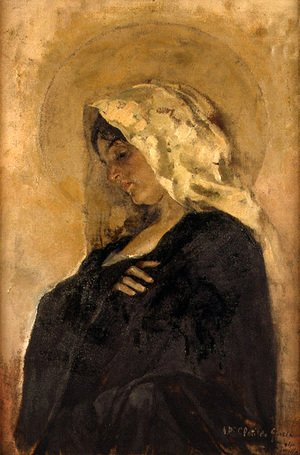 Joaquin Sorolla y Bastida - La Virgen María (The Virgin Mary)