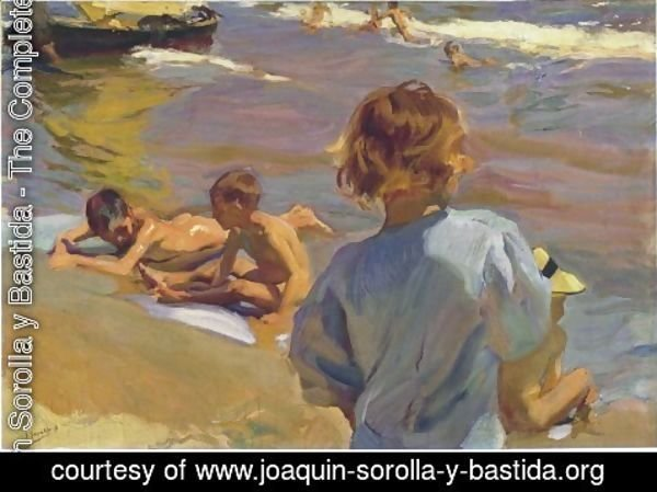 Joaquin Sorolla y Bastida - Ninos en la playa (Valencia) (Children on the Beach (Valencia))
