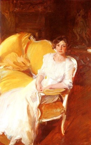 Joaquin Sorolla y Bastida - Clotidle sentada en el sofa (Clotilde Seated on the Sofa)
