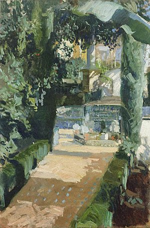 Joaquin Sorolla y Bastida - Court of the Dances, Alcázar, Sevilla