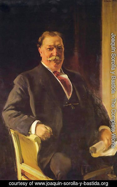 Joaquin Sorolla y Bastida - Retrato del Sr. Taft, Presidente de los Estados Unidos (Portrait of Mr. Taft, President of the United States)