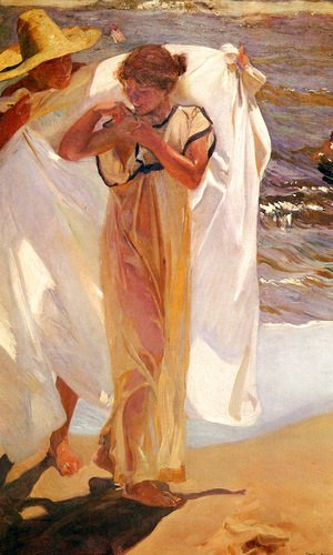 Joaquin Sorolla y Bastida - Saliendo del bano (Leaving the Bath)