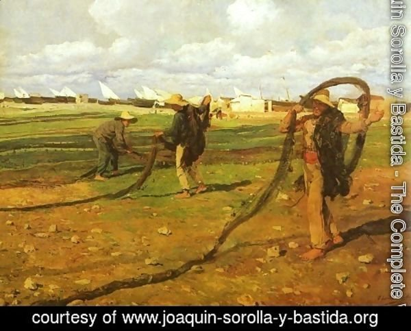 Joaquin Sorolla y Bastida - Pescadores recogiendo las redes (Fisherman Taking Up the Nets)