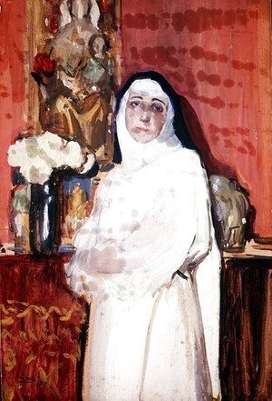 Joaquin Sorolla y Bastida - Nun in an interior
