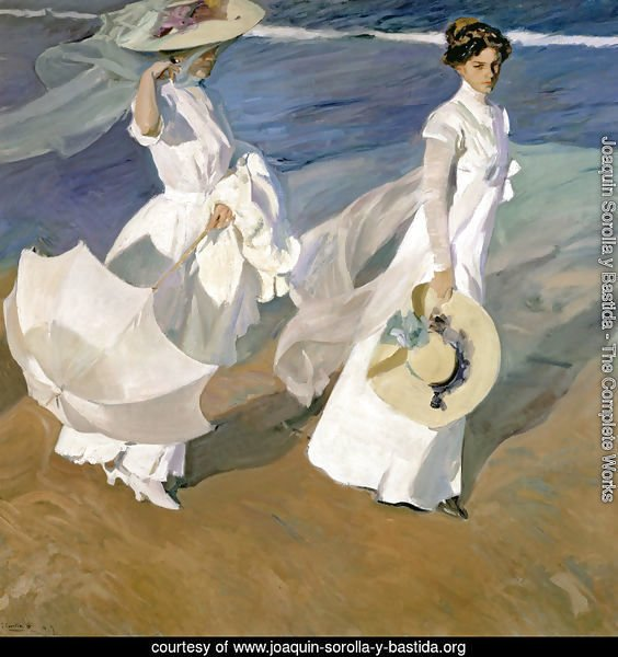 Strolling along the Seashore, 1909