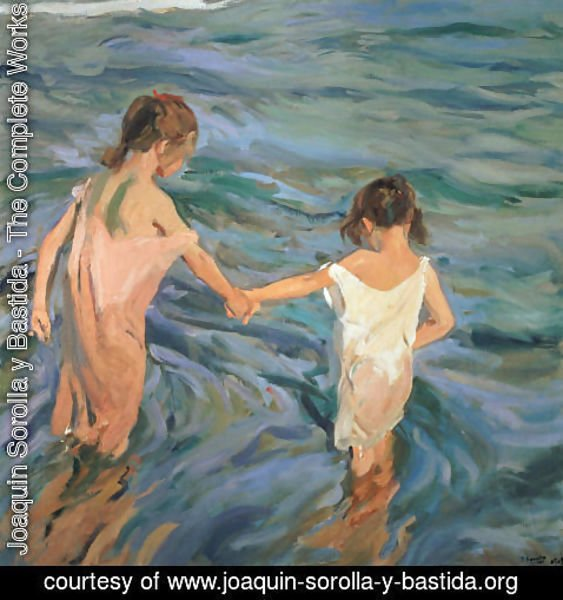 Joaquin Sorolla y Bastida - Children in the Sea, 1909