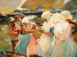 Joaquin Sorolla y Bastida - Fisherwomen on the Beach