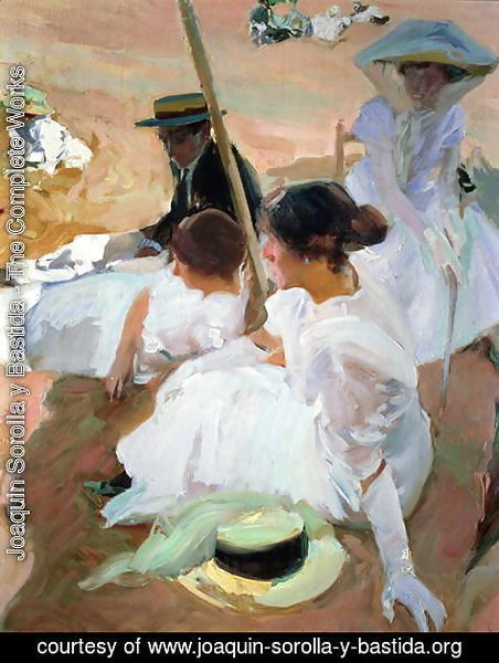 Joaquin Sorolla y Bastida - Under the Parasol  Zarauz  1910