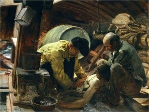 Joaquin Sorolla y Bastida - And they Still Say Fish is Expensive, 1894
