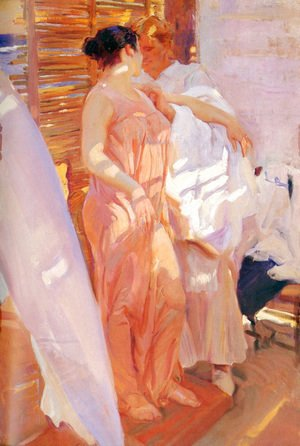 Joaquin Sorolla y Bastida - After the Bath, 1916