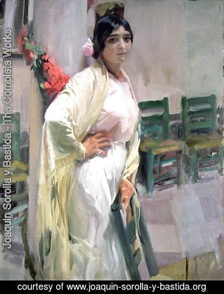 Joaquin Sorolla y Bastida - Maria, the Pretty One, 1914