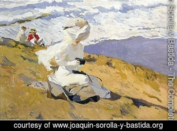 Joaquin Sorolla y Bastida - The Beach at Biarritz 2