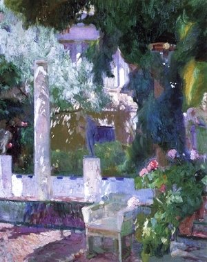 Joaquin Sorolla y Bastida - The Gardens at the Sorolla Family House, 1920