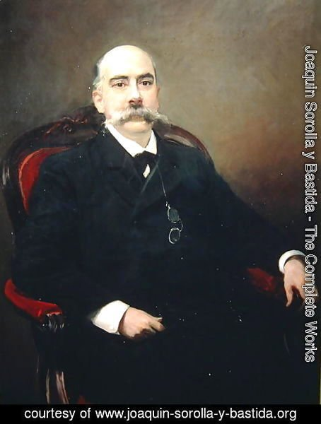 Portrait of Emilio Castelar y Ripoll, Spanish statesman, orator and writer
