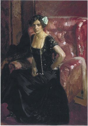 Joaquin Sorolla y Bastida - Clotilde in an Evening Dress, 1910