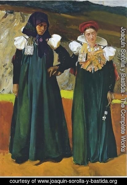Joaquin Sorolla y Bastida - Traditional dress from the Anso Valley, 1914