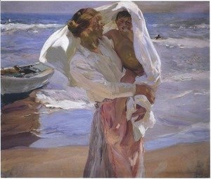 Joaquin Sorolla y Bastida - Just Out of the Sea, 1915