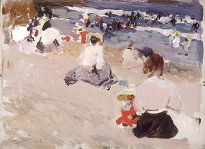 People Sitting on the Beach, 1906