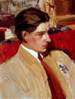 Joaquin Sorolla y Bastida - Self portrait in profile