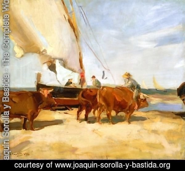 Joaquin Sorolla y Bastida - On the Beach at Valencia