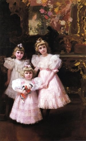 Joaquin Sorolla y Bastida - The Three Errazuriz Sisters