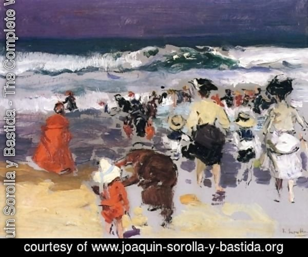 Joaquin Sorolla y Bastida - The Beach at Biarritz (sketch)