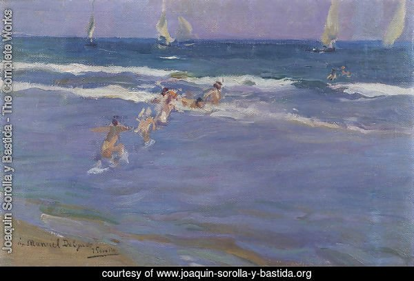 Ninos en el mar (Children in the sea)