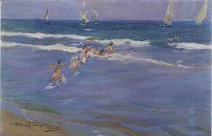 Joaquin Sorolla y Bastida - Ninos en el mar (Children in the sea)