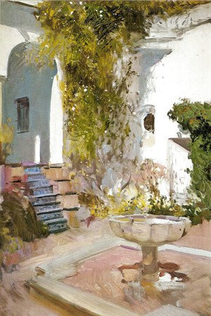 Joaquin Sorolla y Bastida - Corner of the Grutesco of Alcázar, Seville