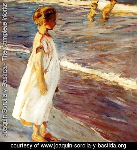 Joaquin Sorolla y Bastida - Girl on the beach
