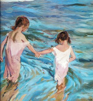 Joaquin Sorolla y Bastida - Girls at sea