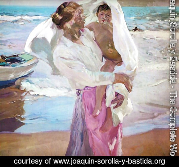 Joaquin Sorolla y Bastida - Leaving the bath 2