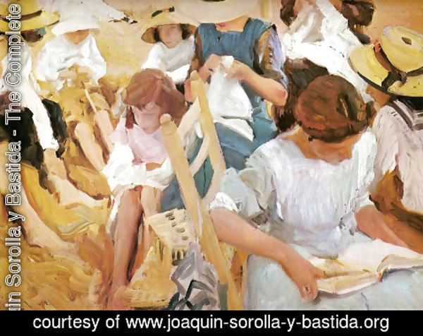 Joaquin Sorolla y Bastida - On the sand, beach of Zarauz