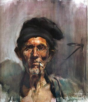 Joaquin Sorolla y Bastida - The old man of the cigarette