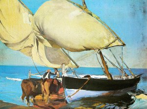 Joaquin Sorolla y Bastida - The sails