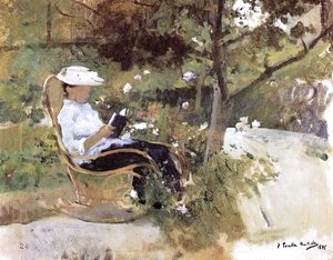 Joaquin Sorolla y Bastida - At the garden