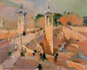 Joaquin Sorolla y Bastida - Bridge of el Real, Valencia