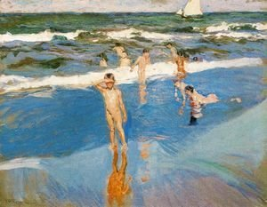 Joaquin Sorolla y Bastida - Children at sea. Beach of Valencia