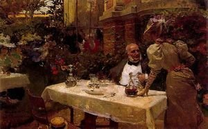 Joaquin Sorolla y Bastida - Coffee in Paris