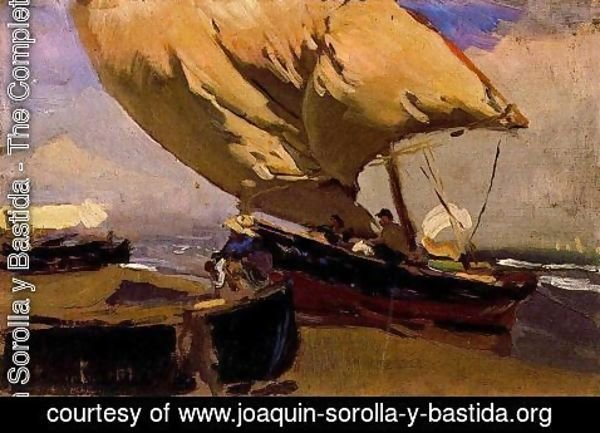 Joaquin Sorolla y Bastida - Drag of the bou