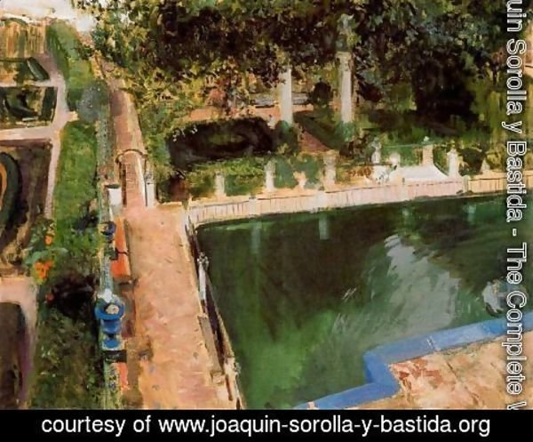 Joaquin Sorolla y Bastida - Garden of Charles V in the Alcazar in Seville