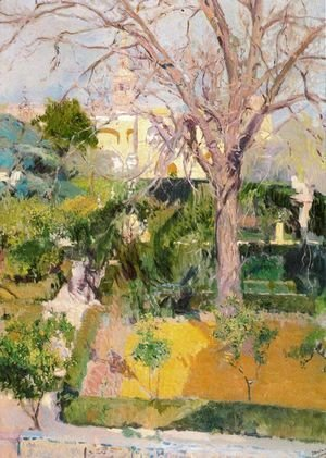 Joaquin Sorolla y Bastida - Gardens of the Alcazar in Seville